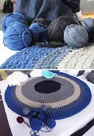 arm knitting revisited via giant hand knit furnishing series