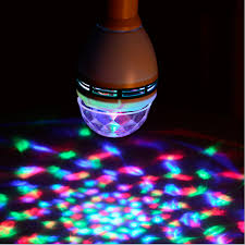 mini disco ball light 2set e27 3w led colorful bulbs rotary mini laser light small