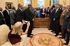 kellyanne conway explains why she was kneeling on oval office