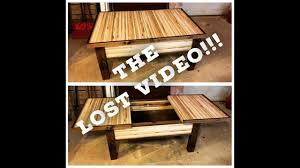 sliding top coffee table sliding top coffee table the lost video from izzy swan s