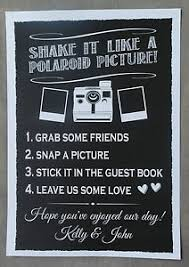 poloroid guest book personalised chalkboard style wedding polaroid guest book sign