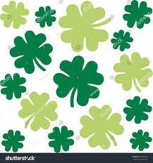 shamrock pattern fourleaf clovers two green stock vector 363691823