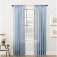 Blue Sheer Curtain Blue Sheer Curtains Drapes You Ll Wayfair