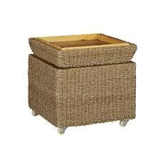 Wicker Storage Ottoman Stunning Seagrass Storage Ottoman Rolling Seagrass Wicker Storage