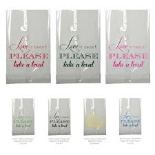 candy bar bags personalized candy bar bag wedding favor is sweet clear small cellophane