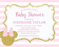 minnie mouse baby shower invitations minnie mouse baby shower invites etsy