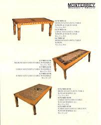 Rope Table L Santa Dining Room Tables Monterrey Rustic Furniture