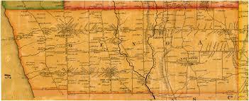 Cayuga County Map Map Of 1853 Cayuga County Ny Map