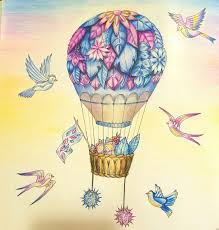 color book com air balloon color page completed by tmcg enchanted forest