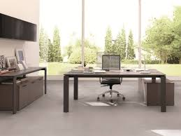 Simple Wooden Office Tables Captivating L Shaped Office Desk In Grey Tone With Drawer