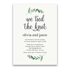 reception invitation reception only wedding invitations reception only greenery