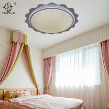 Led Bedroom White Round Ceiling - modern simplicity led round ceiling lamps white pink wave edge led