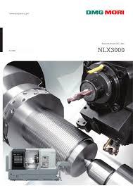 nlx3000 dmg mori pdf catalogue technical documentation