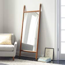 mid century mirror mid century dowel mirror pecan west elm
