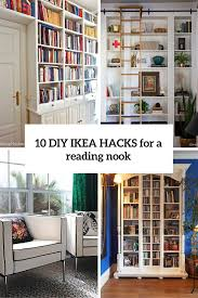 Ikea Home Office Hacks 10 Diy Ikea Hacks For A Home Library Or A Reading Nook Shelterness