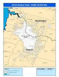 Oregon Weather Map by Noaa Weather Radio Kig98