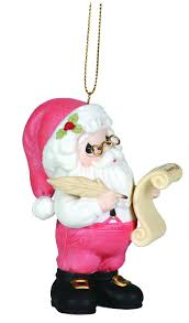 precious moments annual santa with his list ornament