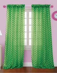 Curtain Pair Sultans Linens Polka Dot Sheer Curtains Green Outs All