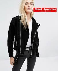 biker jacket women all black best selling suede biker women jacket