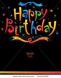 happy birthday greeting card stock vector 104640269 shutterstock