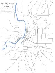 Salem Oregon Map by File Salem Street Network Svg Wikimedia Commons