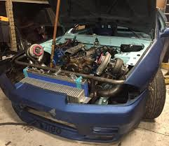 nissan skyline r34 engine nissan skyline with a ford diesel v8 u2013 engine swap depot