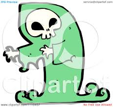 halloween clipart ghost clipart green halloween spook skull ghost royalty free vector