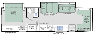 class c motorhome floor plans chateau super c diesel motorhomes floor plan 35sm thor motor