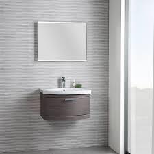 Small Wall Hung Sink Bathroom Hudson Reed Quartet Black Wood Wall Hung Vanity Unit