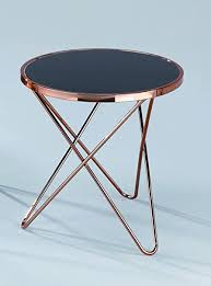 black coffee and end tables aspect porto round side coffee end l table metal copper black