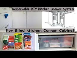 what to do with blind corner cabinet kitchen organizing remarkable diy kitchen drawer system for