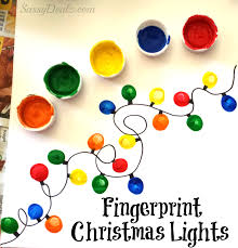 christmas fingerprint crafts u create