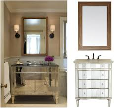 attractive single washbasin mirrored rustic bathroom vanities