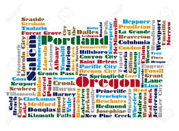map of oregon state word cloud map of oregon state royalty free cliparts vectors and