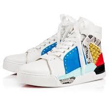 boot louboutin sneakers mens super stage flat blackblack lucido