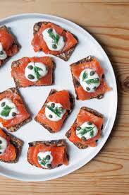 gravlax and creme fraiche appetizer popsugar food