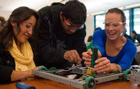 college work file students work on robots at cañada college jpg wikimedia commons