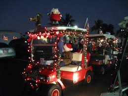 decorated golf carts lined up to start the parade flickr