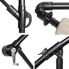 Patio Umbrellas Parts by Amazon Com Coolaroo 10 Foot Round Cantilever Freestanding Patio