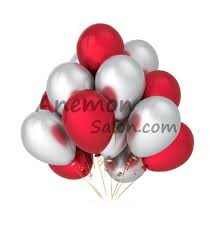 silver balloons helium filled 15 and silver balloons