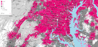 Washington Dc Area Map by T Mobile Decides To Base New Coverage Map On Real Data From Real