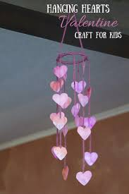 hanging hearts easy valentines craft for kids my little me