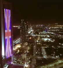 Flag Of Dubai City Monuments Around The World Light Up In Red White And Blue Of