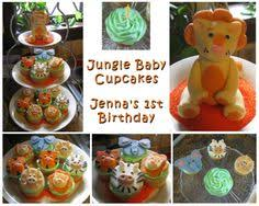 baby shower cupcake cakes fisher price jungle animal baby shower