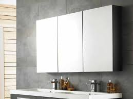cool bathroom mirror cabinets with three panels storage over