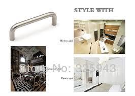 Kitchen Cabinet Hardware Brushed Nickel 2pcs 128mm Brushed Nickel Bedroom Furniture Hardware Door Handle