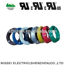 ul1284 pvc insulated heat resistance electric wire color code with