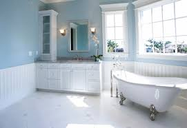 bathroom pale blue and white bathroom style simple design theme