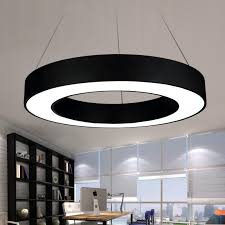 Office Lighting Fixtures For Ceiling Modern Office Led Circle Pendant Lights Suspension Hanging