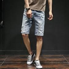 Comfort Waist Mens Shorts 2017 Men U0027s Cotton Thin Denim Shorts New Fashion Summer Male Casual